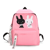 幼儿园儿童包包小书包男女童1-3-5-6周岁可爱韩版双肩包背包卡通 粉色 两只兔