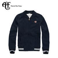Abercrombie & Fitch 新款AF男式棉质棒球领加厚标识Logo款春秋夹克