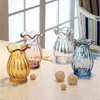 欧式现代玫瑰仿真花艺套装摆件 家居饰品客厅餐桌玻璃插花瓶摆设