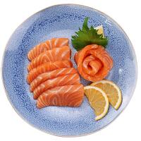 速鲜 智利进口新鲜冷冻三文鱼中段500g 鲑鱼整条切段生鱼片即食 日式刺身料理【赠送芥末酱油】