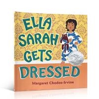 英文原版Ella Sarah Gets Dressed 2004年凯迪克银奖绘本 萨拉就要这样穿 亲子共读绘本读物2-