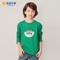 童装男童长袖T恤2018秋装新款中大儿童条纹圆领休闲套头T恤韩版
