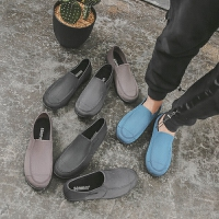 厨房水鞋男雨靴夏季低帮时尚短筒洗车雨鞋潮防滑厨师工作防水胶鞋