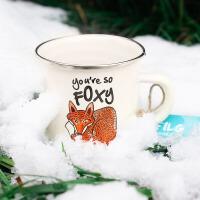 汉馨堂 马克杯 搪瓷460ml大容量水杯加厚茶缸茶杯非陶瓷咖啡杯子