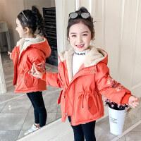 【到手价:134元】童装2019冬季新款女童短款绣花棉袄儿童保暖棉服宝宝加绒棉衣