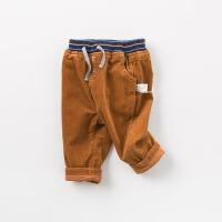 戴维贝拉秋装新款男童裤子宝宝灯芯绒休闲裤DB9224