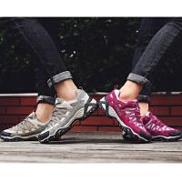 女士登山鞋越野徒步鞋男网布透气夏天户外鞋防滑爬山鞋春秋季