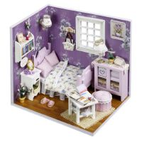 diy手工小屋建筑模型木质拼装小房子生日礼物情人节成人组装玩具