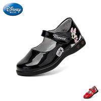 迪士尼Disney童鞋18新款儿童皮鞋米妮时装鞋女童灯鞋学生鞋 (4-8岁可选) S73271