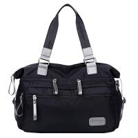 kuansen防水尼龙男包韩版潮流旅行包单肩斜挎包商务休闲男士手提包行李包