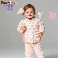 【3件2折 到手价:140】Pawinpaw卡通小熊童装儿童新款冬男女宝宝白鸭绒羽绒服外套婴幼儿
