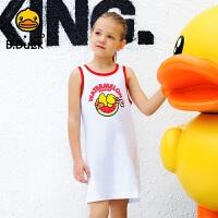 【4折价:79.6】B.duck小黄鸭童装女童纯棉背心夏装儿童无袖吊带宽松打底衫BF2005902