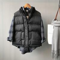 马甲女士外套短秋冬季新韩版潮宽松大码学生加厚棉衣羽绒棉外套