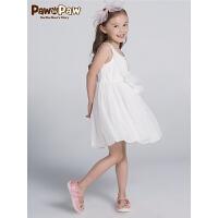 【3件3折 到手价:239】Pawinpaw卡通小熊童装夏季女童无袖吊带连衣裙