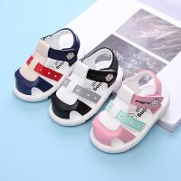 儿童凉鞋夏男女宝宝凉鞋公主鞋学步鞋婴儿鞋子叫叫鞋
