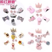 韩国饰品可爱公主发卡头饰女童夹子宝宝包边夹发饰婴儿发夹发量少