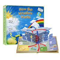 英文原版书绘本 天气 气候科普 立体翻翻书 How the Weather Works 气候是如何运转的 进口精装 启