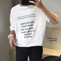短袖男潮牌t恤简约字母印花潮流T恤夏季薄款时尚欧美风宽松打底衫