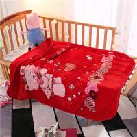 儿童婴儿毛毯云毯云绒毯新生儿幼儿园宝宝小孩秋冬中厚外出保暖