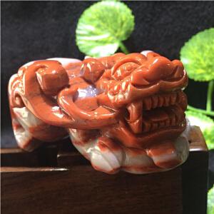 新疆三彩玉俏色巧雕貔貅摆件或手把件【TQYS2-(A833#)】