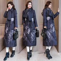 中国风女装棉衣2018冬装民族风长款过膝羽绒加厚棉袄外套