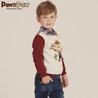 【2件2.5折 到手价:125】Pawinpaw宝英宝卡通小熊童装秋季款男童卫衣PCMA73835P