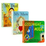 【中商原版】Goodnight Moon晚安月亮 My Mum My Dad我爸爸我妈妈 英文原版名家纸板书3册 英语