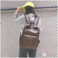书包女韩版原宿ulzzang 复古双肩包女韩国森系pu皮质高中学生背包