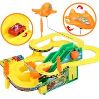 电动多层轨道车 滑梯轨道 玩具车男孩子儿童玩具 极速飙车赛车