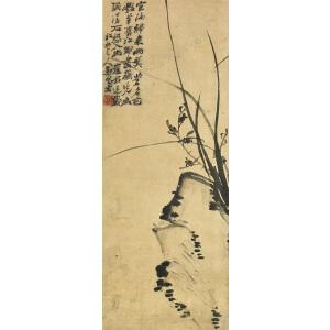 郑燮 兰石图(旧装裱) D6