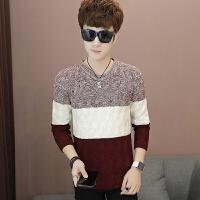 男装圆领韩版修身衣服学生男士打底衫毛衣男冬装针织衫