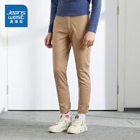 [秒杀价:59.9元,秒杀狂欢再续仅限3.31-4.3]真维斯休闲长裤男秋季新款青年韩版潮流纯色修身小脚弹力裤子