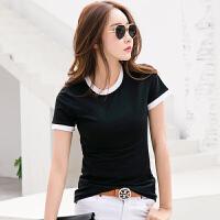 夏季新款女装t恤女短袖韩版修身显瘦半袖打底体恤衫棉质衣服
