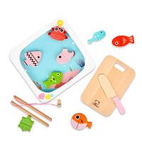 过家家切切乐1-2-3岁男孩儿童早教木制海洋玩具磁性女孩
