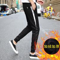 秋冬季加绒休闲裤男修身小脚裤子男韩版潮流哈伦运动裤男束脚长裤