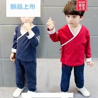 汉服童装宝宝复古中国风古装女童男童唐装儿童套装民族风棉麻春装