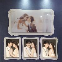 影楼韩式婚纱照放大结婚照双层大韩水晶烤瓷相框挂墙三四组合制作 四组合 1大+3小 妮维雅套系