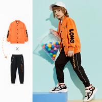 【1件4折:150】巴拉巴拉旗下男童棒球服套装2020春装新款儿童开衫外套长裤洋气男