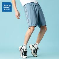 真维斯男装 夏装新款 舒适轻薄印花及膝平脚短裤