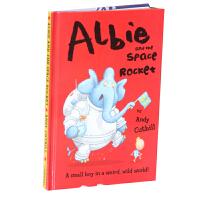 英文原版 Albie And The Space Rocket Andy Cutbill 精装儿童早教益智启蒙绘本书籍