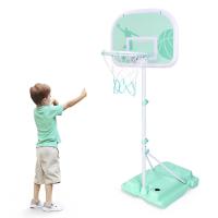 儿童户外运动铁杆篮球架可升降投篮框宝宝男孩皮球类玩具