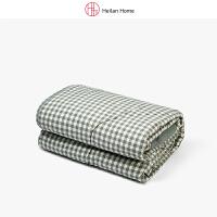 深绿格纹水洗棉被子200×230cm Heilan Home/海澜优选生活馆