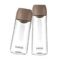 苏泊尔BB杯塑料大水杯便携随手杯可爱学生杯子简约耐摔运动茶杯KC55BL1