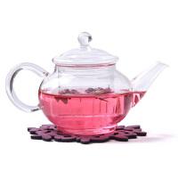 透明茶壶玻璃过滤 煮茶壶花茶茶壶烧水茶壶加热茶具250ml 高硼硅耐热玻璃六人壶泡茶壶