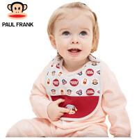 PWA1731076大嘴猴(Paul Frank) 婴儿围嘴 新生儿口水巾 宝宝饭兜儿童围兜 2条/袋