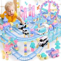 儿童玩具轨道车男孩电动小汽车套装4-6岁生日礼物