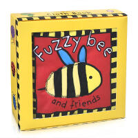 英文原版 Fuzzy Bee and Friends 蜜蜂和朋友们 浴室洗澡布书 亲子启蒙趣味动物认知亲肤咬不烂 触摸