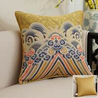 靠垫女王 新中式龙纹抱枕 客厅沙发抱枕靠垫含芯腰枕大靠枕套