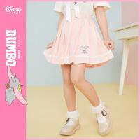 9.25超品返场【2.5折预估价:62.7元】迪士尼童装女童梭织甜美短裙2021夏季新款洋气儿童卡通夏装