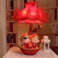 婚庆台灯树脂娃娃床头卧室灯实用创意结婚礼物红色婚房摆件